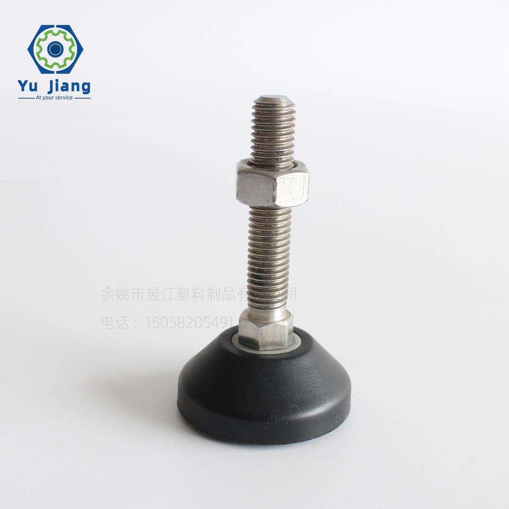 廠家銷售碳鋼底盤尼龍固定調節腳 電子秤設備腳 塑流水線設備腳M10