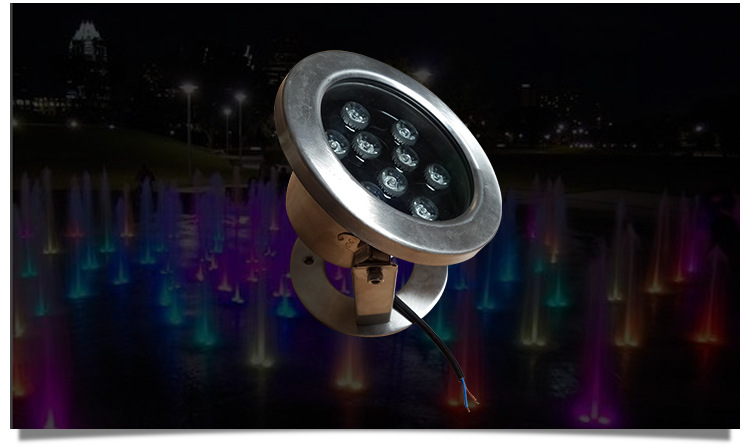 LED不锈钢水底灯户外景观LED水底灯公园广场水池水底灯示例图7