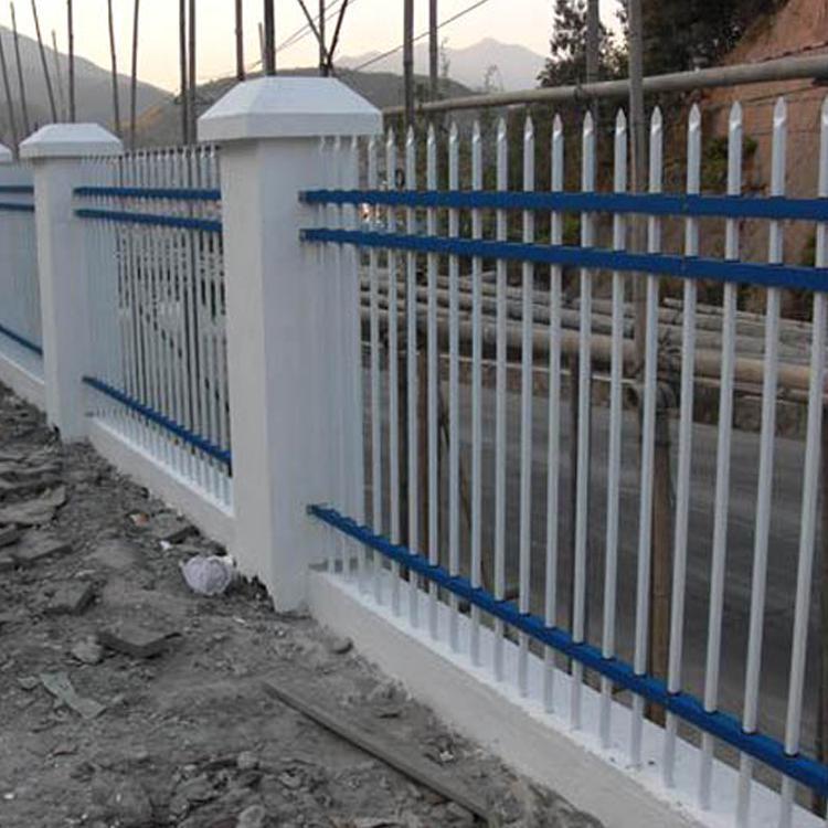 锌钢围栏 庭院锌钢护栏价格 锌钢草坪护栏 云旭 现货供应