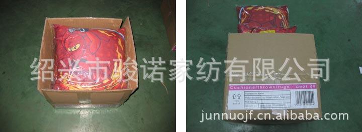 绍兴市骏诺家纺厂家供应订做色丁布靠垫,卡通抱枕示例图7