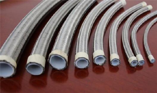 厂家直销钢编铁氟龙高温高压软管 铁氟龙高压钢编管示例图2