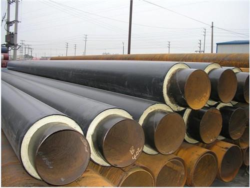 沧州热水供暖用硬质聚氨酯泡沫塑料保温钢管 聚異氰尿酸脂保温管示例图8