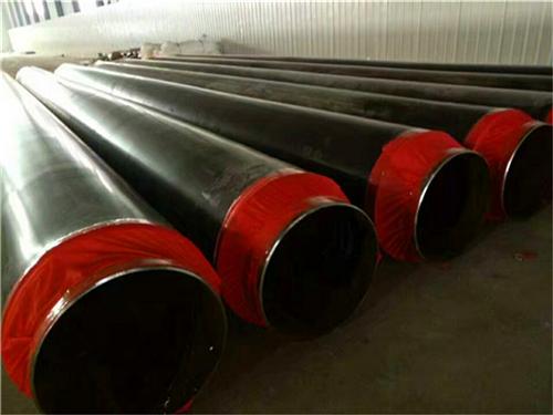 沧州热水供暖用硬质聚氨酯泡沫塑料保温钢管 聚異氰尿酸脂保温管示例图10