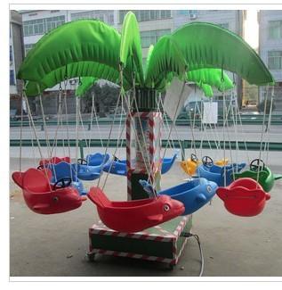 专业生产现货供应小型秋千飞鱼游乐 大洋游乐新款12座秋千飞鱼示例图3