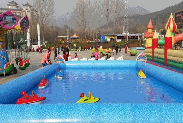 方向盘遥控船水上游乐设备,厂家直销,儿童方向盘遥控船游乐设施示例图4
