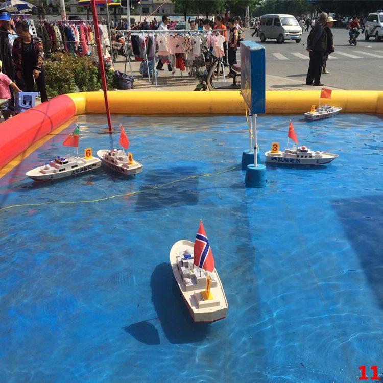 方向盘遥控船水上游乐设备,厂家直销,儿童方向盘遥控船游乐设施示例图12