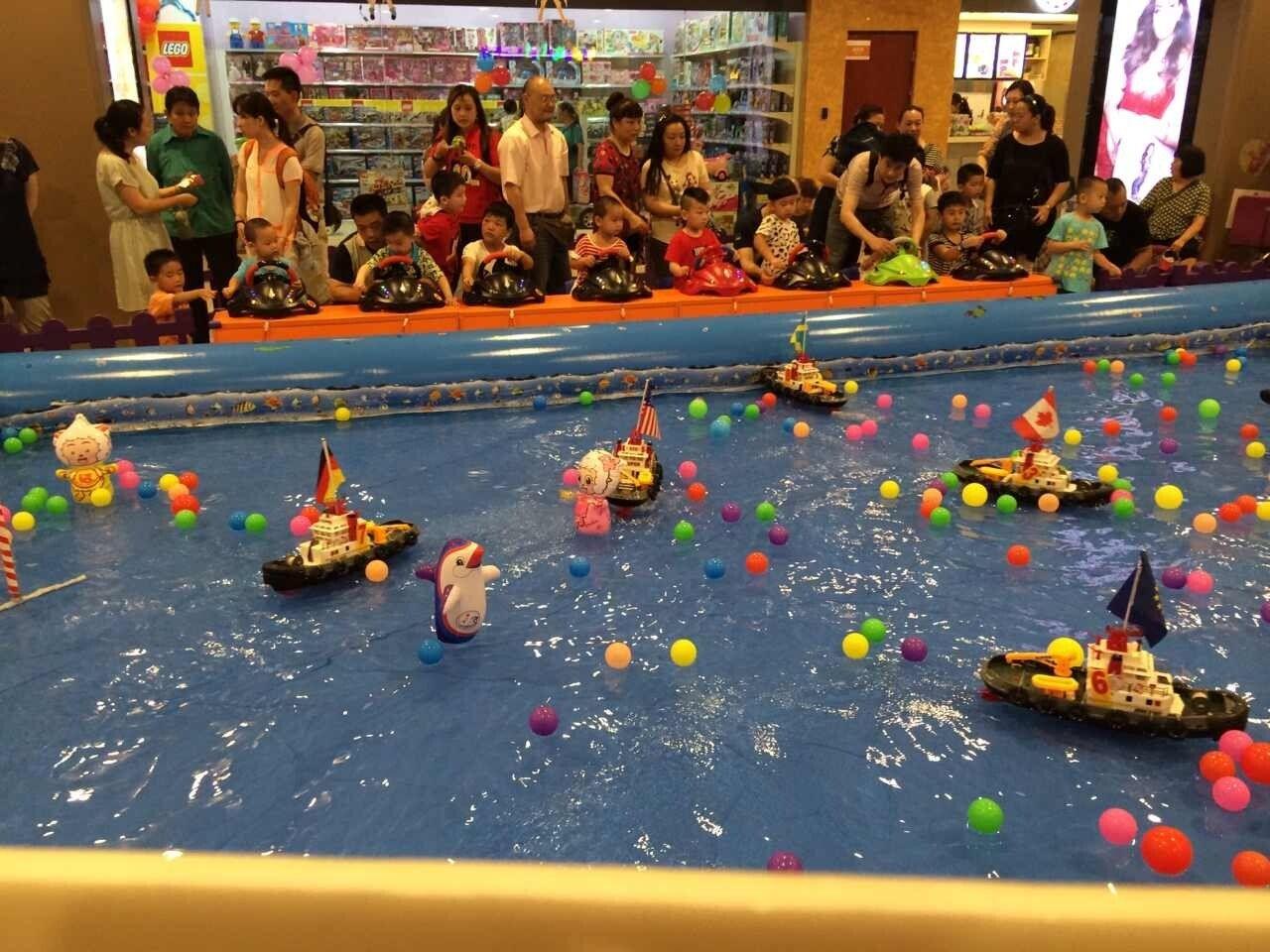 方向盘遥控船水上游乐设备,厂家直销,儿童方向盘遥控船游乐设施示例图13