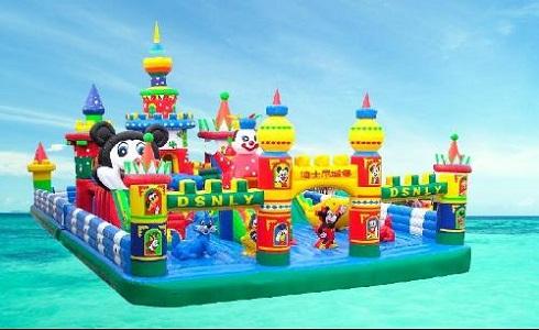 充气大滑梯儿童游乐设备 造型新颖环保 卡通充气滑梯郑州大洋厂家游艺设施示例图4