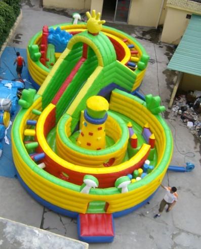 充气大滑梯儿童游乐设备 造型新颖环保 卡通充气滑梯郑州大洋厂家游艺设施示例图7