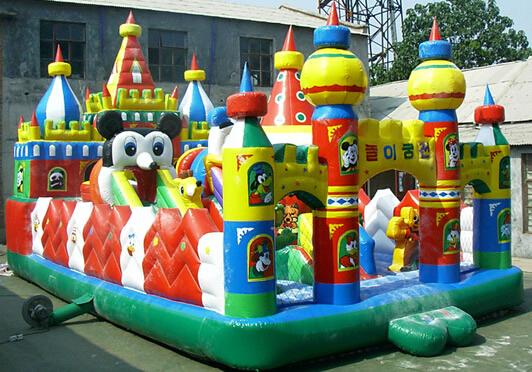 充气大滑梯儿童游乐设备 造型新颖环保 卡通充气滑梯郑州大洋厂家游艺设施示例图17