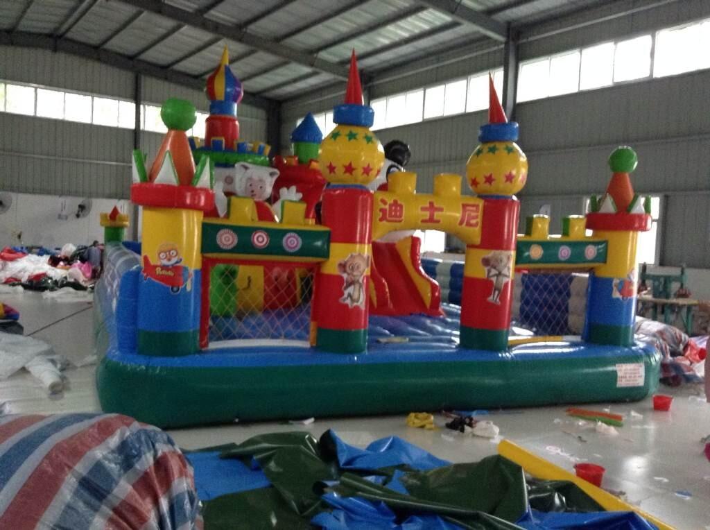 充气大滑梯儿童游乐设备 造型新颖环保 卡通充气滑梯郑州大洋厂家游艺设施示例图19
