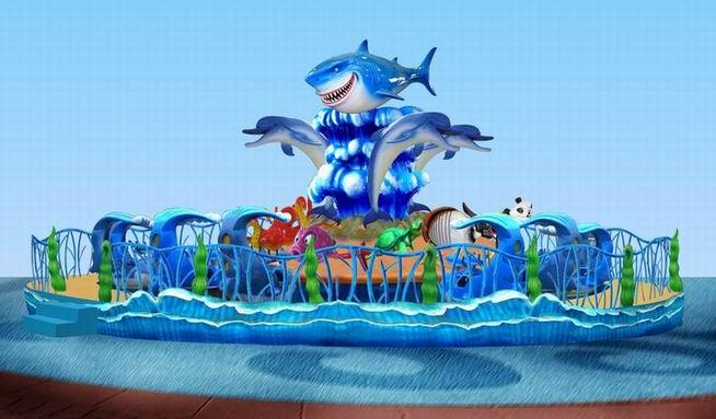 现货供应儿童旋转欢乐海洋 大洋专业定制水上欢乐海洋游乐设备示例图11