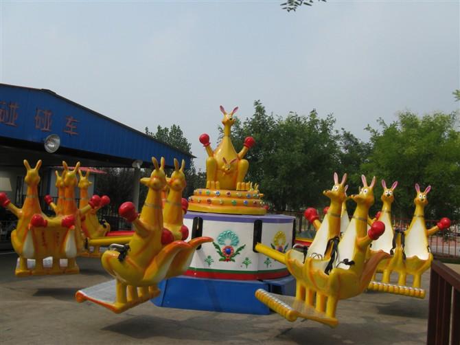 大洋现货供应公园户外游乐儿童欢乐袋鼠 疯狂弹跳8臂欢乐袋鼠项目示例图9