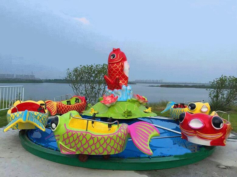 广场鲤鱼跳龙门儿童游乐设备 现货供应 郑州顺航鲤鱼跳龙门厂家示例图4