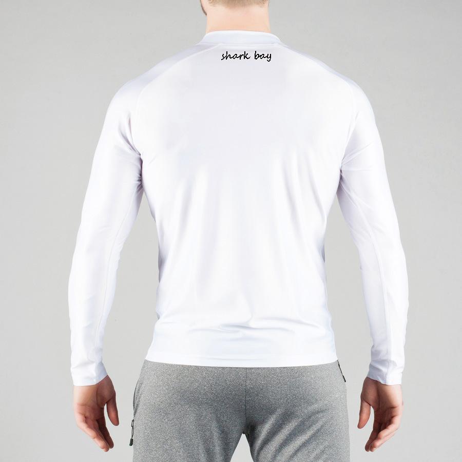 蒂贝鲨肌肉兄弟健身速干高弹长袖紧身上衣运动透气紧身长袖T恤示例图4