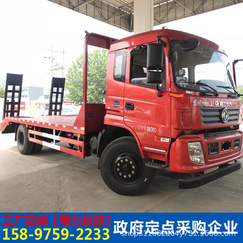 東風多利卡12噸挖掘機平板運輸車挖機平板拖車工程機械運輸車廠家示例圖15