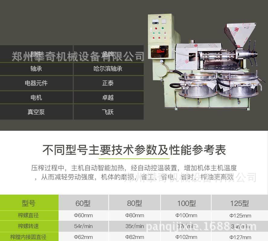 多功能螺旋榨油机全自动商用榨油机公司直供价格优示例图6
