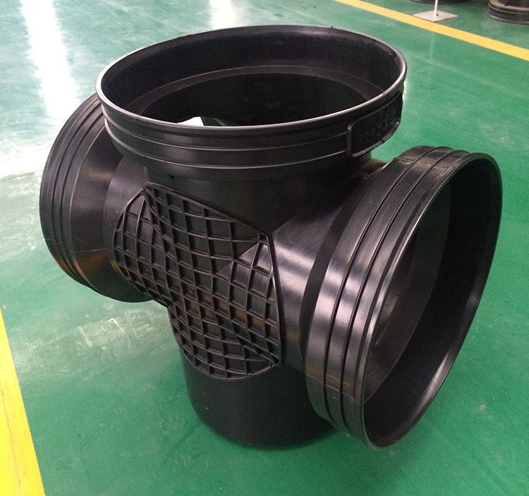 450*300沉泥90°弯头井 塑料检查井 雨水塑料检查井批发示例图10