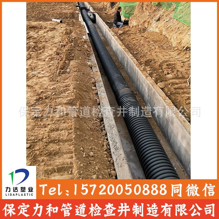 力和管道 网上直销 HDPE双壁波纹管 PE波纹管 型号齐全 质量保证示例图10