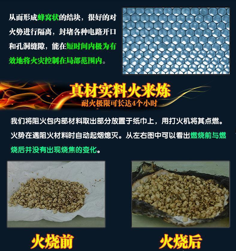 生产外墙阻火包250 400 720耐火材料 优质电缆型 膨胀型防火包示例图3