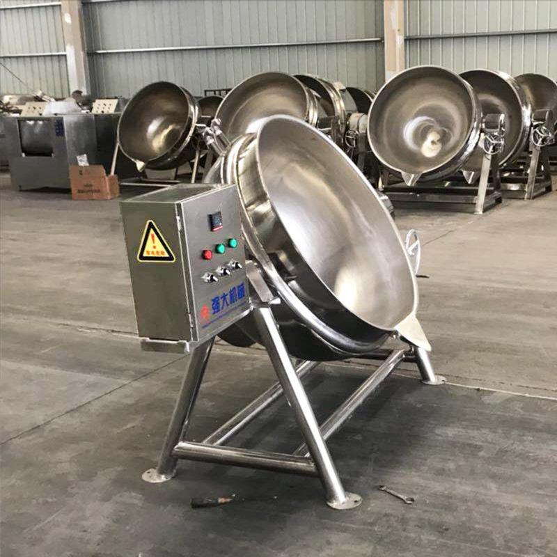 鹵牛肉專用夾層鍋 商用可傾斜不銹鋼夾層鍋 廠家直銷圖片