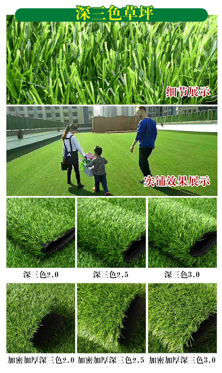 仿真草坪人造草 假草坪地毯 幼兒園彩色草皮人工塑料假草綠色戶外示例圖14