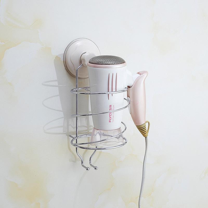 厂家批发 创意不锈钢墙面电吹风置物架 家居日用品吹风机收纳架示例图5