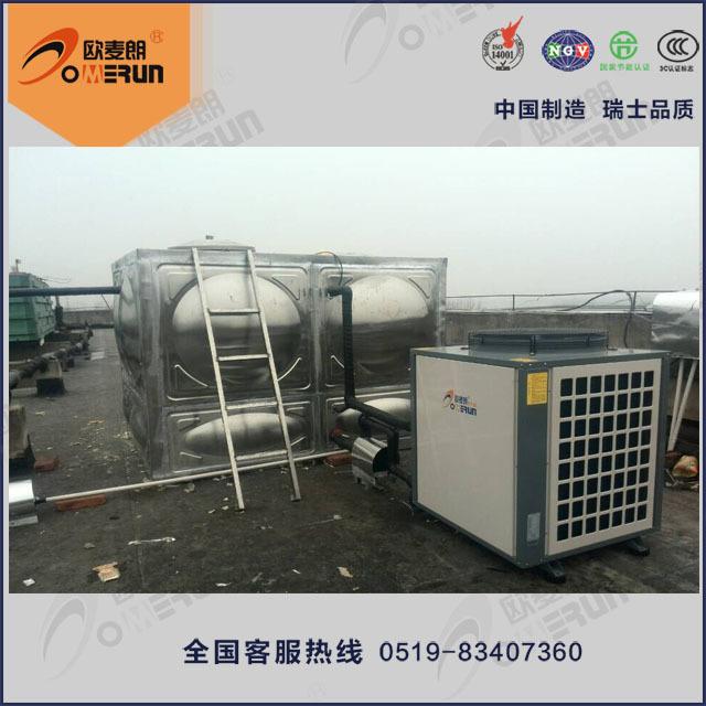 热泵热水工程 集中式空气能热水工程 空气能热泵中央热水系统示例图4