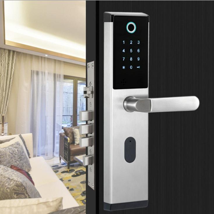 工厂直销 指纹密码锁 智能密码指纹锁 刷卡电子感应锁 新款家用防盗指纹锁 OEM