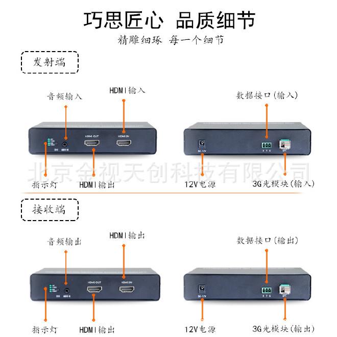 高清HDMI光端机HDMI高清光端机-HDMI无压缩光端机-HDMI视频光端机示例图2