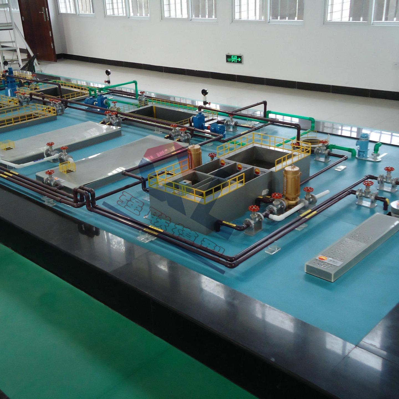 净化厂污水处理模型 QLWSCL-01 污水处理模型 通水演示模型  强联模型