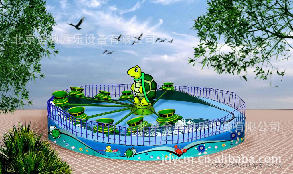 轨道类 旋转小乌龟(或甲虫) 游乐设备 游艺机 室外游乐设备示例图1