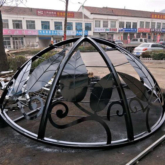 生产定做圆顶亭,欧式景观亭,铁艺穹顶,方顶亭