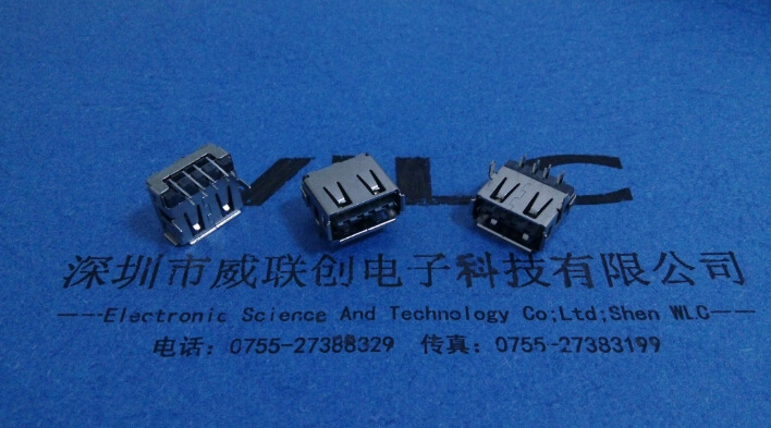 AF 90度 短体10.0母座 超薄5.9H 6P插板 有卷边示例图2