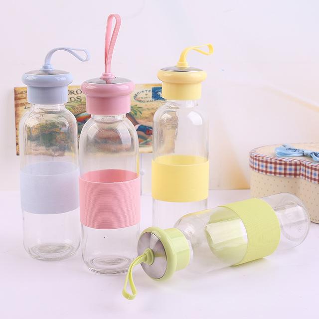 酷帥杯玻璃玻璃新款水杯情侶杯韓國耐熱兒童可愛便攜帶蓋帶彩盒