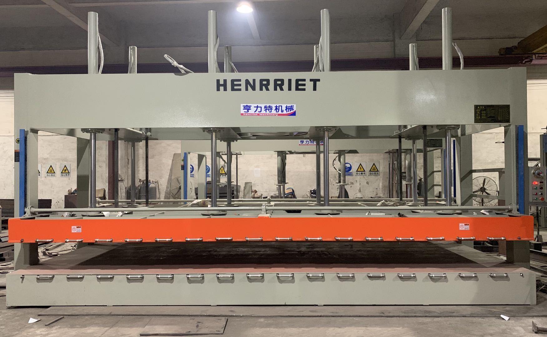 今日特價亨力特機械160噸,空調板,冷庫板,車廂板,整體衛浴發泡板,聚氨脂發泡板熱壓機示例圖20