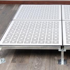 波米亚全钢防静电通风地板 济宁铝合金通风防静电地板 净化厂房机房常用加强型通风高架地板 冷通道通风地板---济南向利机房