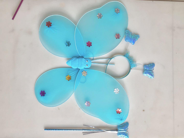 厂家直销蝴蝶翅膀单层三件套天使翅膀六一儿童演出蝴蝶翅膀示例图5