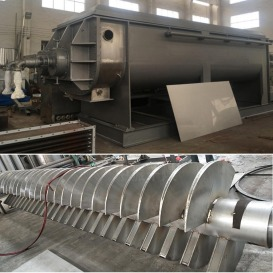 空心桨叶干燥机 污泥 染料干燥机 双轴桨叶干燥机