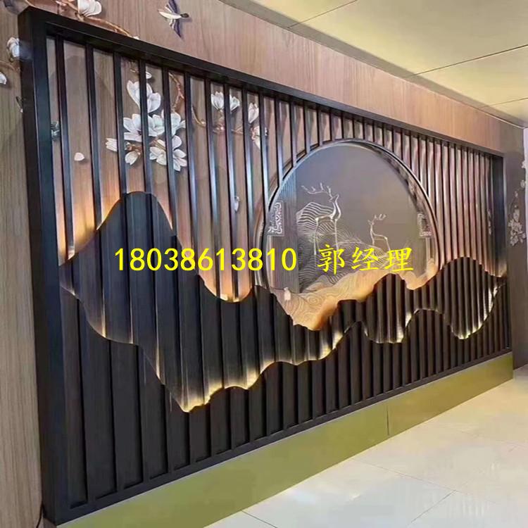 茶社仿古铝窗花定制价格 铝方管开模定制厂家 匠铝出品的中式铝窗花示例图11