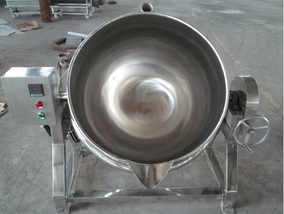 不銹鋼可傾斜600L蒸汽夾層鍋 中藥材煮鍋 電夾層鍋示例圖2