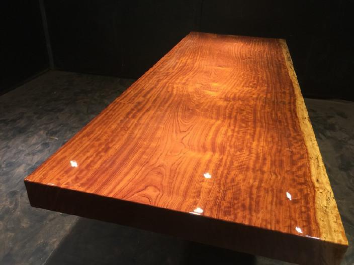 奥坎竞技宝和雷竞技哪个好大板原木餐桌 中式茶桌 老板办公雷竞技靠谱吗套装组合巴花大板示例图14