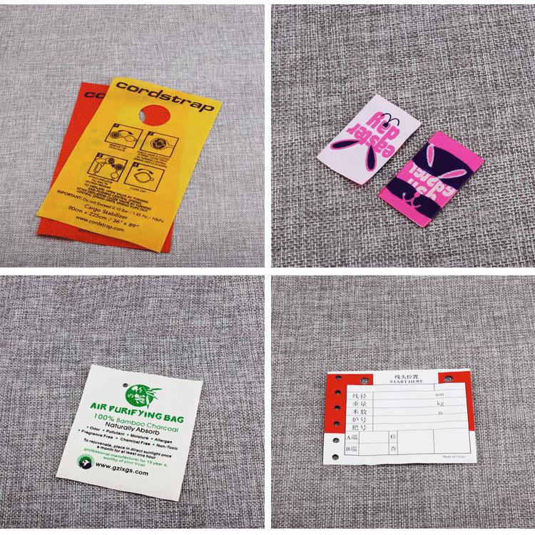 服装辅料水洗标 制服水洗标 童装水洗唛 衣服领标布唛 广东印唛厂示例图9