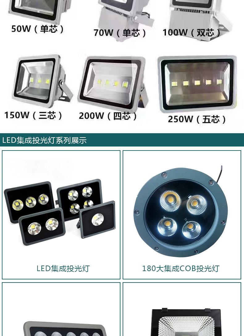 厂家批发户外照明防水 LED 50W大功率集成投光灯 LED集成投射灯示例图8