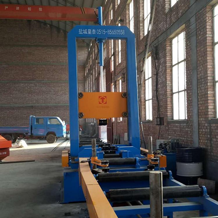 H型钢组立机江苏厂家  品质100%保证 7天包退换的钢结构组立机示例图1