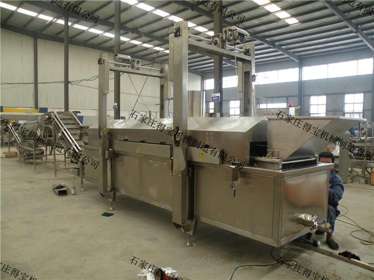 膨化油炸机生产线 得宝机械 智能型温控器 进口不锈钢 自动控温 炸制定时 自动搅拌 自动出料 厂家定制示例图8