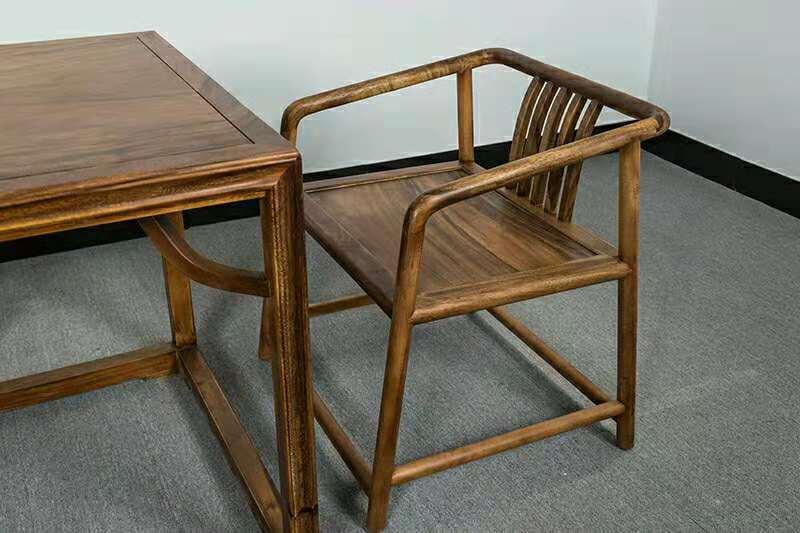 南美胡桃木精美茶桌六件套竞技宝和雷竞技哪个好原木休闲泡茶桌示例图4