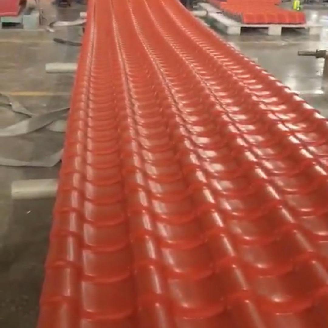 塑料滴水瓦 仿古屋檐瓦 树脂屋面瓦厂家 佛山虹鑫建材供应 质量保证发货快