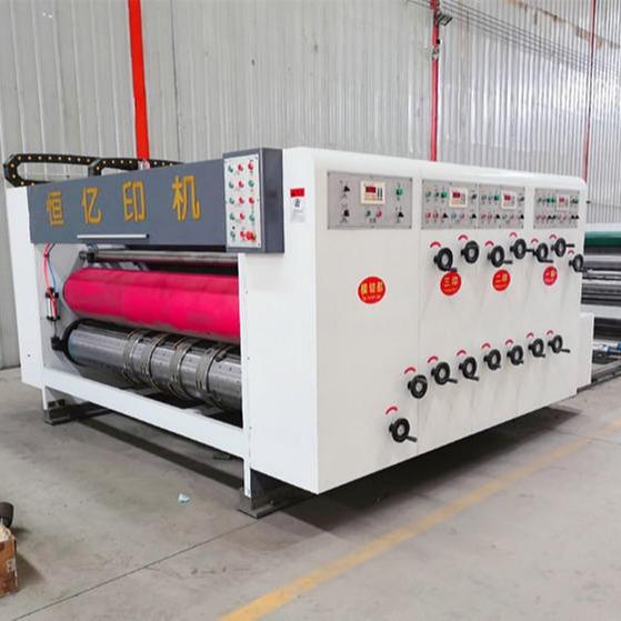 恒億新型高速印刷開槽機 前緣送紙 電腦操控 人機界面 自動復位 工廠加工定做 廠家直銷