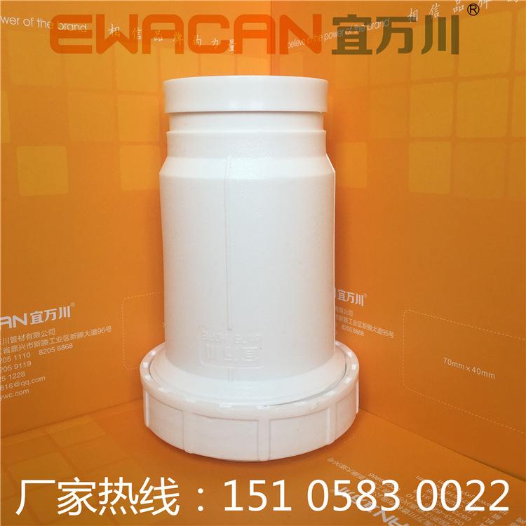 沟槽式HDPE超静音排水管,HDPE沟槽管,压环卡箍,厂家直销示例图1